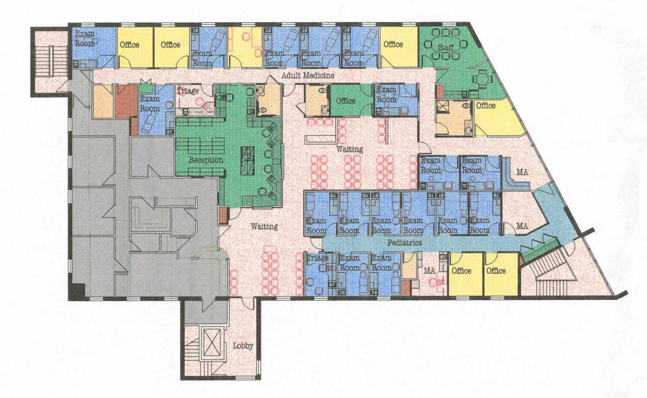 Small hospital floor plans - Mercy Hospital Offsite Primary Care 616 Forest Avenue Portland Me Second Floor Plan